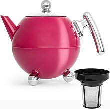 Bredemeijer Edelstahl Teekanne Set 1,2 Liter pink