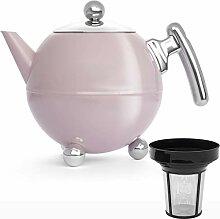 Bredemeijer Edelstahl Teekanne Set 1,2 Liter rosa