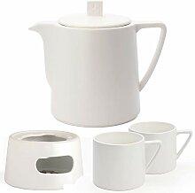 Bredemeijer Keramik Teekanne Set weiß 1,0 Liter