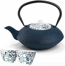 Bredemeijer Teekanne asiatisch Gusseisen Set blau