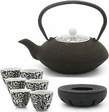 Bredemeijer Teekanne asiatisch Gusseisen Set braun