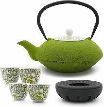 Bredemeijer Teekanne asiatisch Gusseisen Set grün