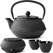 Bredemeijer Teekanne asiatisch Gusseisen Set