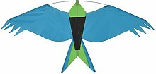 Breeze In The Vogel-Silhouette Drachen blaugrün