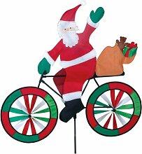 Breeze Santa Spinner.-Garten Windrad-Weihnachtsmann