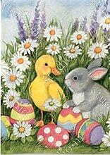 BreezeArt Ostern Babys Garten Flagge 31469