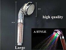 Breite: LED-Duschkopf mit