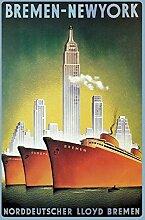 Bremen-New York- Norddeutscher Lloyd Bremen -