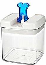bremermann® Trockenfutter Vorratsdose mit Aroma-Deckel, Knochendekor (1 Liter, Blau, weitere Größen verfügbar)