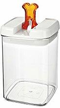 bremermann® Trockenfutter Vorratsdose mit Aroma-Deckel, Knochendekor (1,8 Liter, Orange, weitere Größen verfügbar)