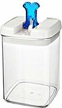 bremermann® Trockenfutter Vorratsdose mit Aroma-Deckel, Knochendekor (1,4 Liter, Blau, weitere Größen verfügbar)
