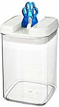 bremermann® Trockenfutter Vorratsdose mit Aroma-Deckel, Tatzendekor (1,8 Liter, Blau, weitere Größen verfügbar)