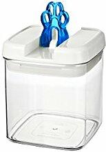 bremermann® Trockenfutter Vorratsdose mit Aroma-Deckel, Tatzendekor (1 Liter, Blau, weitere Größen verfügbar)