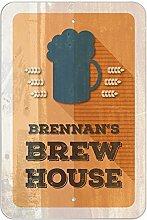 "Brennan 's Brew House–hausgebrautem Bier Bar Pub Club Kunststoff Schild, plastik, 12"""" x 18"""" (30.5cm x 45.7cm)"