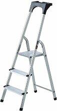 Brennenstuhl 1401270 Haushaltsleiter Aluminium mit Arbeitsschale 7 Stufen