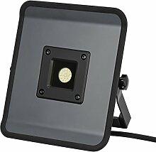 Brennenstuhl Compact LED-Leuchte / LED Strahler mit 20W Leistung und 5m Kabel (Baustrahler für außen und innen, ideal als Arbeitsleuchte) Farbe: grau
