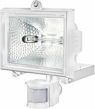 Brennenstuhl Halogenstrahler mit Infrarot-Bewegungsmelder / Flutlicht ideal als Baustrahler (Außenstrahler IP44 geprüft, 400 Watt) Farbe: weiß