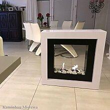 Brenngelkamin Gelkamin Kaminofen Raumteiler Kaminfeuer für schöne Stunden im Wohnzimmer