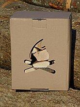 Brennholz Karton Buche