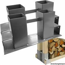 Brennholz Stapelhilfe 2Stk. Holzstapelhalter Kaminholzhalter Feuerholzhalter
