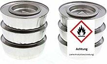 Brennpaste 6 Dosen a' 80 g