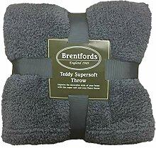 Brentfords Teddy Fleece-Überwurf, 200 x 240 cm,