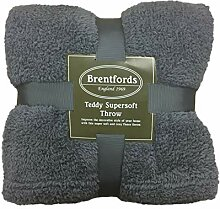 Brentfords Teddy Fleece-Überwurf, 200 x 240 cm,