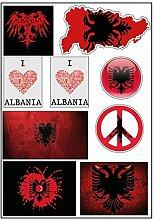 Brett A4Aufkleber-Albanien selbstklebend