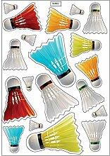 Brett A4Aufkleber-Badminton selbstklebend