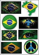 Brett A4Aufkleber-Brasilien selbstklebend