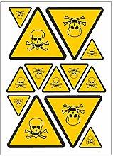 Brett A4Aufkleber-Gefahr giftig
