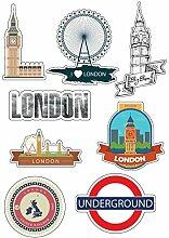 Brett A4Aufkleber-London selbstklebend Klebeband