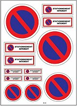Brett A4Aufkleber-Parken verboten