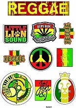 Brett A4Aufkleber-Reggae selbstklebend Klebeband