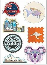 Brett A4Aufkleber-Sydney selbstklebend? E24