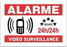 Brett A4Aufkleber-Video Überwachung? E77