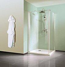 Breuer duschtür mit Seitenwand 90cm, In 72