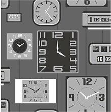 Brewster FD31050 Klox Tapete, Silber/Schwarz