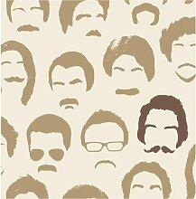 Brewster FD31188 Mustache Tapete - Beige