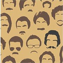 Brewster FD31190 Mustache Tapete - Gold