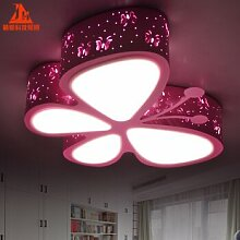 BRFVCS ceiling light Kinder led-Cartoon leuchten Schlafzimmer Kinderzimmer Lampen Kindergarten Spielplatz Deckenleuchte, dreifarbige Temperatur, Weiß 50 * 41 cm Schmetterling
