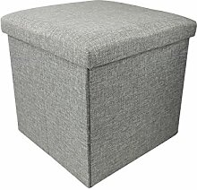 BRIAN & DANY Faltbarer Sitzhocker, Sitzwürfel aus