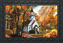Briarwood Lane Fußmatte Herbstkirche