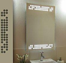 Bricode Süd 50 x 75 LED Lichtspiegel & Badspiegel Player warmweiß 18W