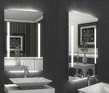 Bricode Süd 50 x 75 LED Lichtspiegel & Badspiegel Twins (F), neutralweiß mit Kantenlicht oben & unten)