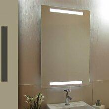 Bricode Süd 50 x 75 LED Lichtspiegel & Badspiegel Twins warmweiß 18W