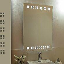 Bricode Süd 50 x 75 LED Lichtspiegel & Badspiegel Usqare kaltweiß 18W