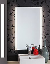 Bricode Süd 60cm x 120cm groß Persis (B) LED Badspiege Neutarlweiß Rahmenloser Moderner Wandspiegel
