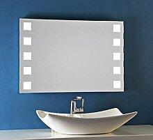 Bricode Süd 75 x 50 LED Badezimmerspiegel Escape warmweiß 18W