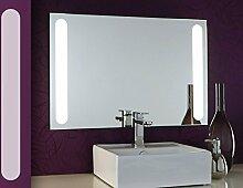 Bricode Süd Badspiegel mit Beleuchtung Libertas (CQ) LED Spiegel Wandspiegel Flächenlicht 75cm x 50cm großer Wandspiegel Neutralweiß